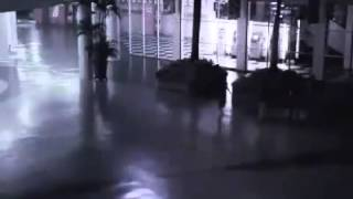 angel falling from the sky captured on security camera