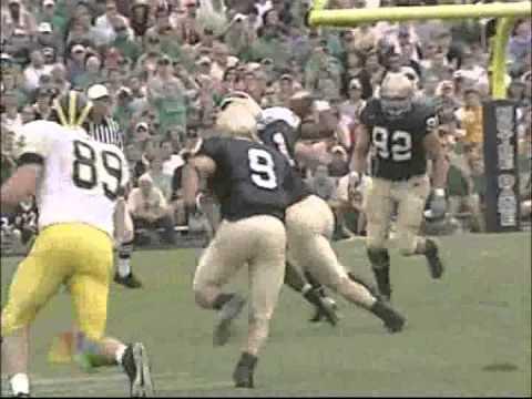 2004 Notre Dame Fighting Irish Highlights vs Michigan