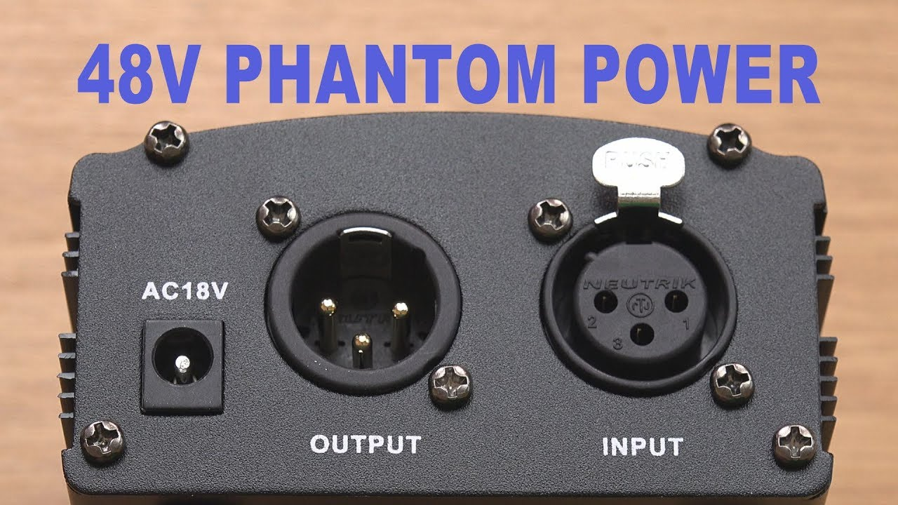 Neewer NW-100 48 Volt Phantom Power Supply For 48V XLR