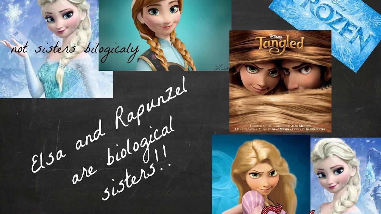 Elsa And Rapunzel Biological Sisters Youtube