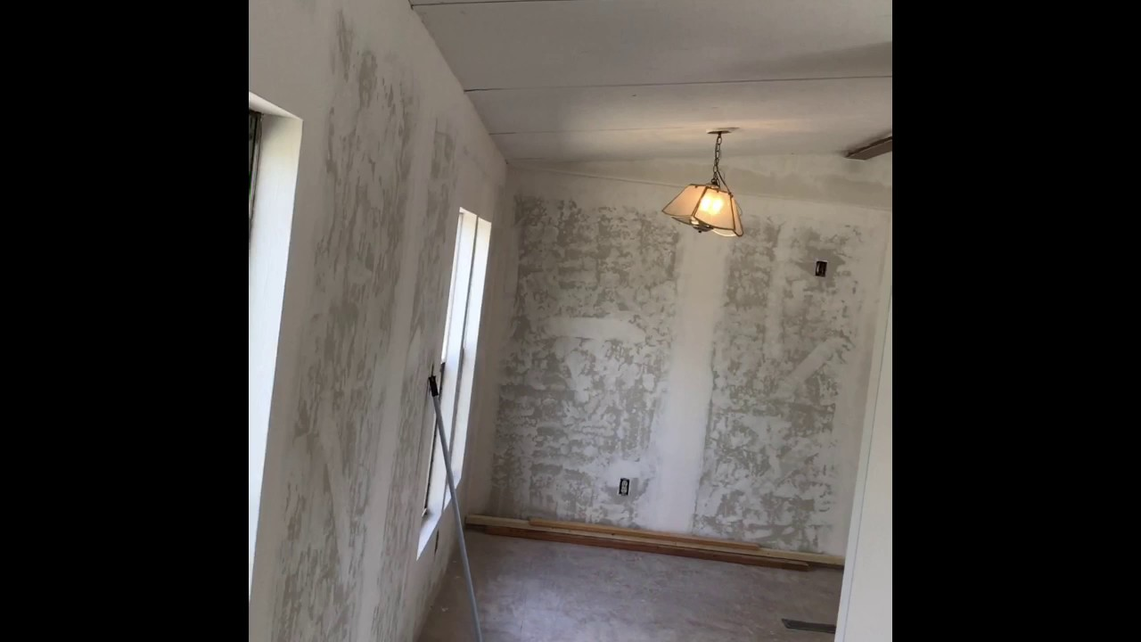 Mobile home drywall work - YouTube