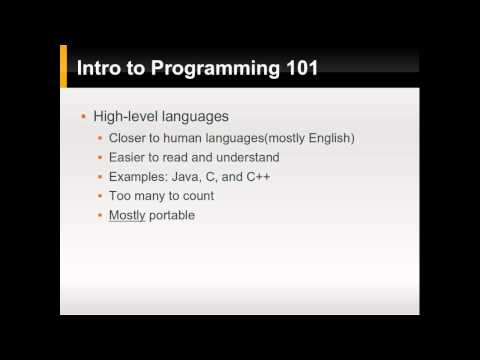 Intro to Programming 101 - Part 1