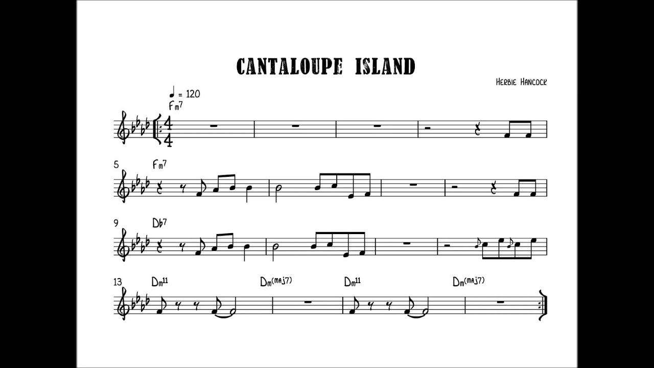 Cantaloupe Island In F 120bpm Drumless Backing Track
