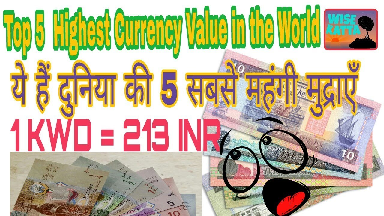 Top 5 Countries With The Highest Currency Value In World Hindi