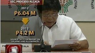 24Oras: Agriculture Secretary Proceso Alcala muli ang tumanggap ng pinakamalaking sweldo