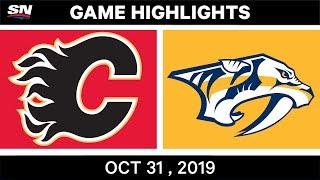 NHL Highlights   Flames vs. Predators – Oct. 31, 2019