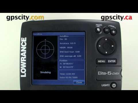 Lowrance Elite 5 DSI Video Manual - GPS Status