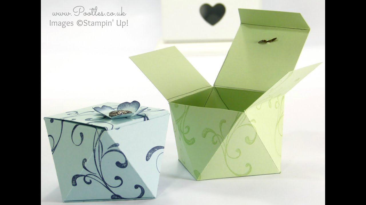 Papercraft Faceted Gift Box Tutorial using Stampin' Up! Everything Eleanor