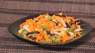 Сыроедческий салат из моркови с грушей