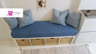 Sitzbank mit Bezug und Kissen / Ikea Hack - DIY Eule