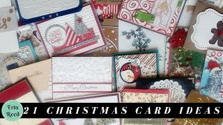 21 Christmas Card Ideas from a Card Swap