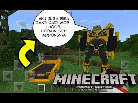 Mobil Tobot X >> Review Mobil Bumblebee Dan Robot di Minecraft PE #8 - YouTube