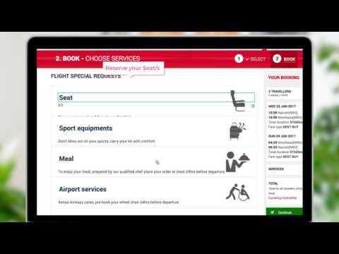 Kenya Airways Online Booking Demo
