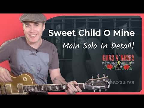 How to play Sweet Child O' Mine [#6 MAIN SOLO p2] Guns 'n' Roses – Guitar Lesson Tutorial (CS-012)