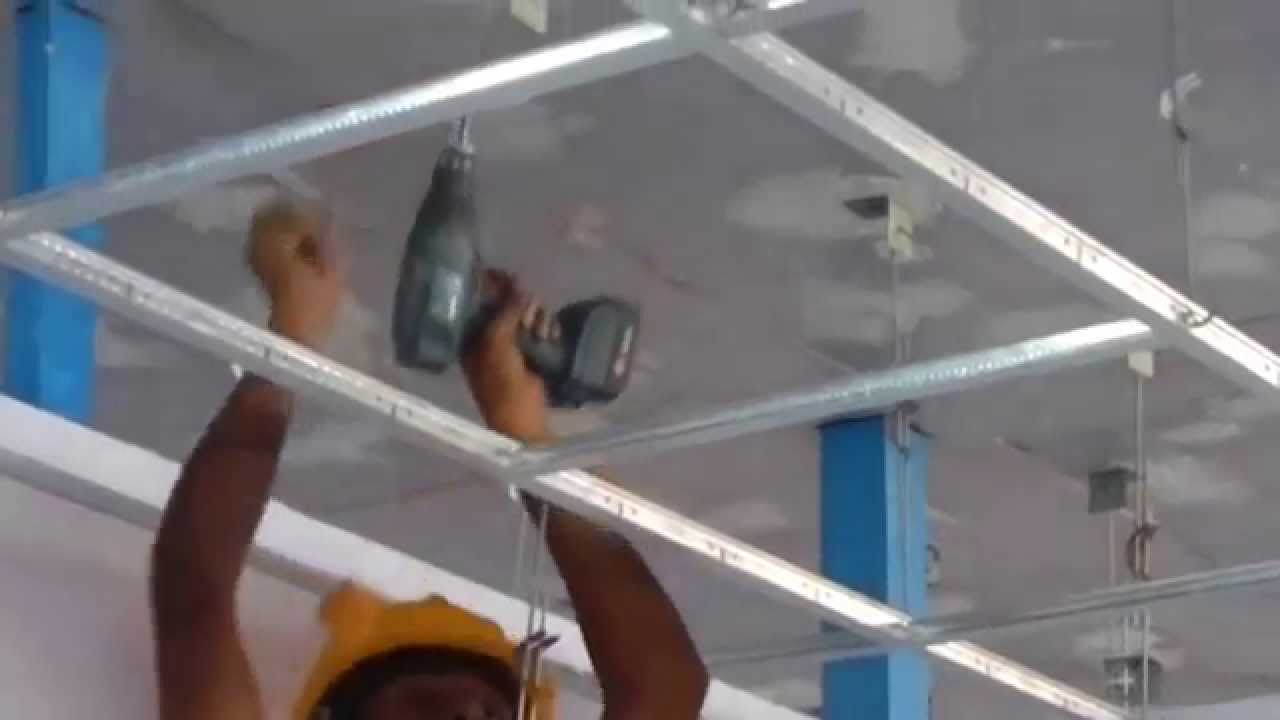 Suspended Ceiling Installation Training - YouTube