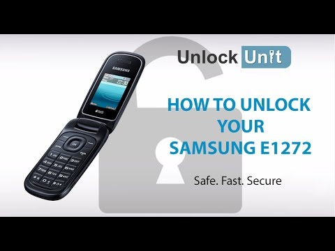 Unlock Samsung E1272 How To Unlock Your Samsung E1272 Youtube