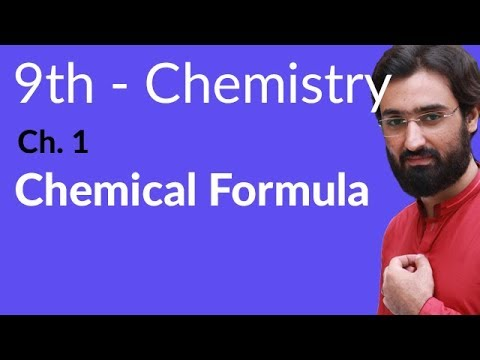 Chemical Formula Chemistry - Chemistry Chapter 1 Fundamentals of Chemistry - 9th Class