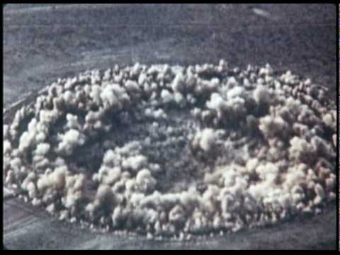 Nuclear Bomb Subsidence Crater Formation