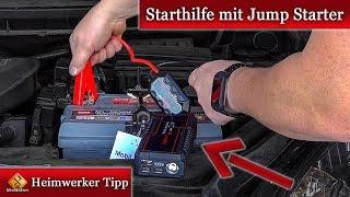 Auto Starthilfe mit Jump Starter / Starthilfe Booster ++► so geht's