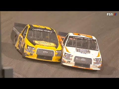 NASCAR Camping World Truck Series 2018. Eldora Speedway. Amazing Battle for Win
