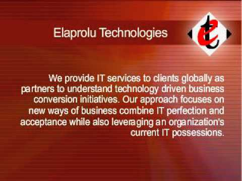 Elaprolu Technologies - Outsourcing and Consulting Company - www.elaprolu.com
