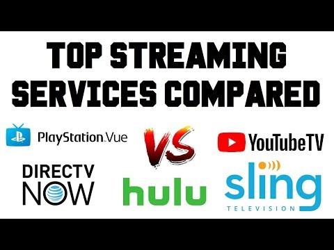 Live TV Streaming Services - Youtube TV vs Sling TV vs DirecTV Now vs Playstation Vue vs Hulu TV