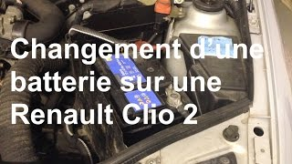 Remplacement d'une batterie (dépose-repose) Renault Clio 2