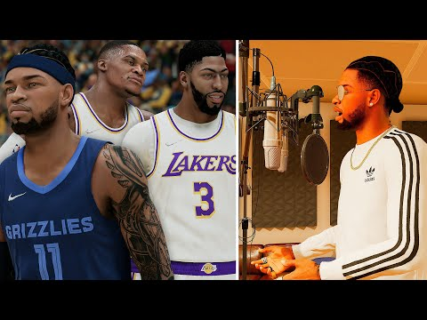 NBA 2K22 PS5 MyCAREER - 2021 SUPER TEAM LAKERS! Rapping In The Studio! Recorded My 1st Song!