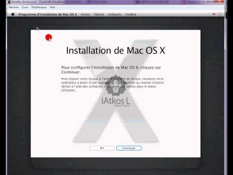 Installation du Mac OS X L iATKOS dans virtualbox
