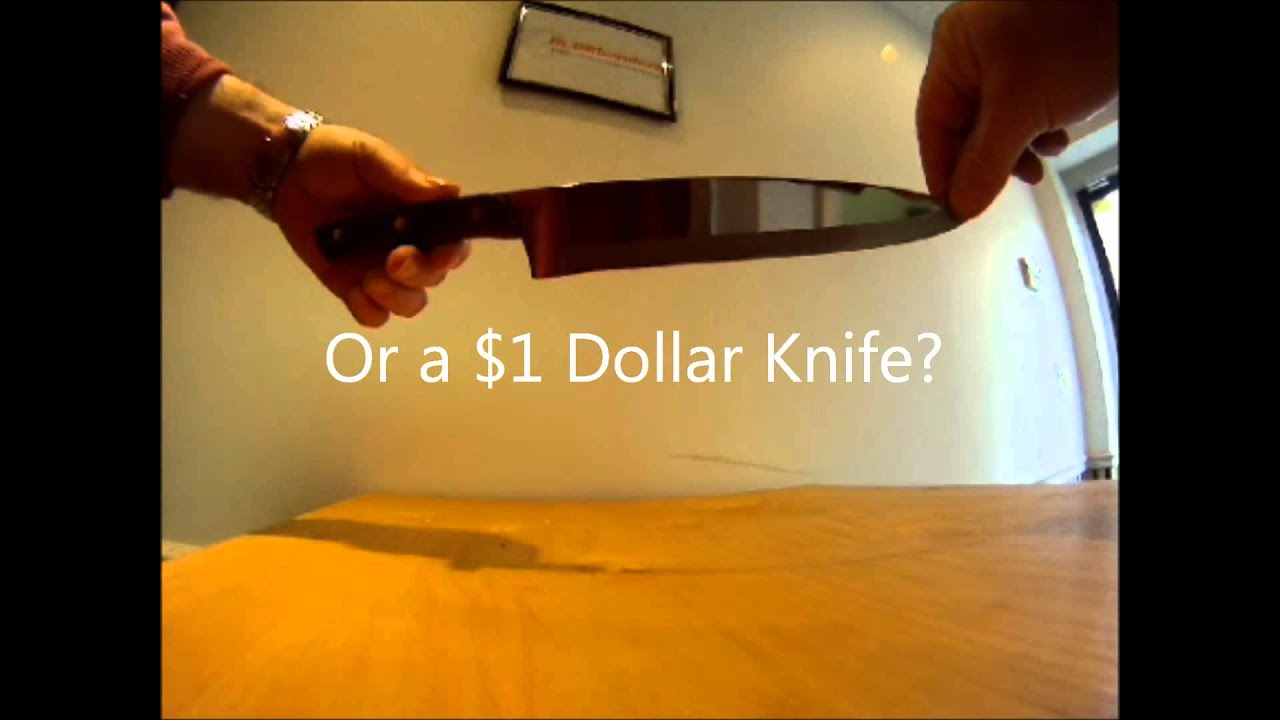 The sharpest knife in the world. - YouTube