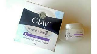 Olay Natural White Night Cream Review|Olay Cream Review|Cream for Dry Skin|Night Cream Review
