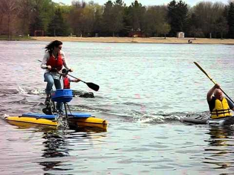 Hydro Bike And Kayak Race Avi Youtube