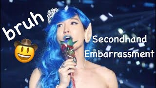 Kpop moments that give me second hand embarrassment