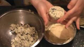 Картофельные котлеты с морской капустой
