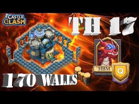 Castle Clash Base Design: Town Hall 17 - Baby Molt? | HBM Q