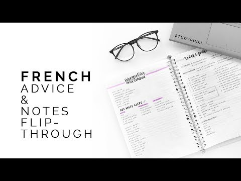 tips for studying french 🍏 french notebook flipthrough