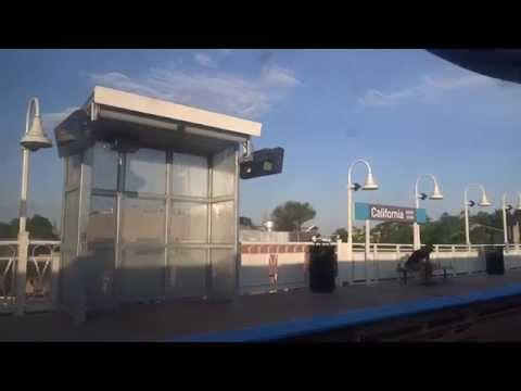 Chicago downtown to O'Hare International Airport (ORD) on CTA Blue Line subway 2015-08-07