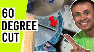 How To Cut 60 Degree Angle on Miter Saw (Other Angles Too!)