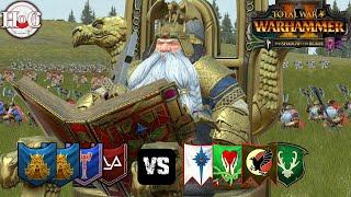 WAR OF THE BEARDS - Total War Warhammer 2 - Online Battle 433