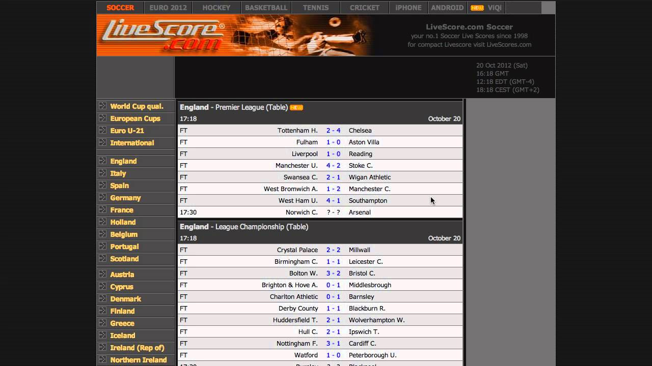 Better Livescore (Chrome Extension and Greasemonkey) - YouTube