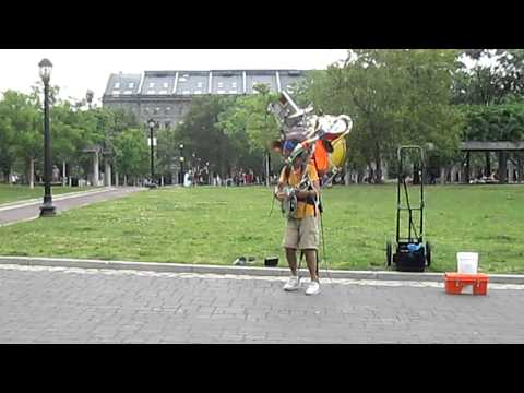 One Man Band at Christopher Columbus Waterfront Park, Boston