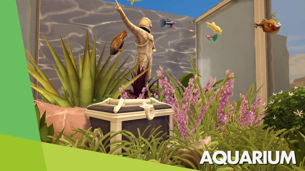 Los sims 4 tutorial acuario funcional functional for Sims 4 fishing