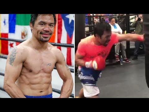 MANNY PACQUIAO IS RIPPED!! HAND SPEED A BLUR, IN PRIME CONDITION FOR JANUARY 19TH
