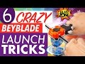 6 Crazy Beyblade Launch Tricks!  Beyblade Burst Tips & How to win at Beyblades!  ベイブレードバースト  百叶窗