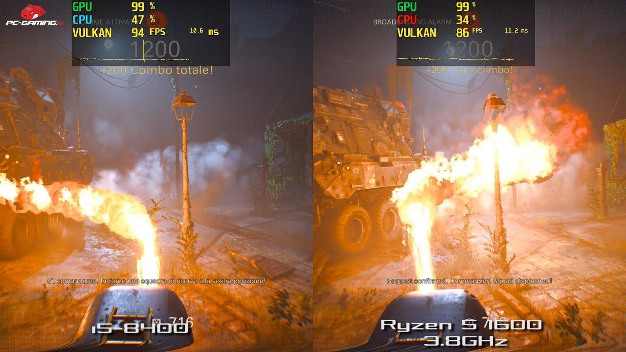i5-8400 vs Ryzen 5 1600 3 8GHz 1080p Ultra   GTX 1080