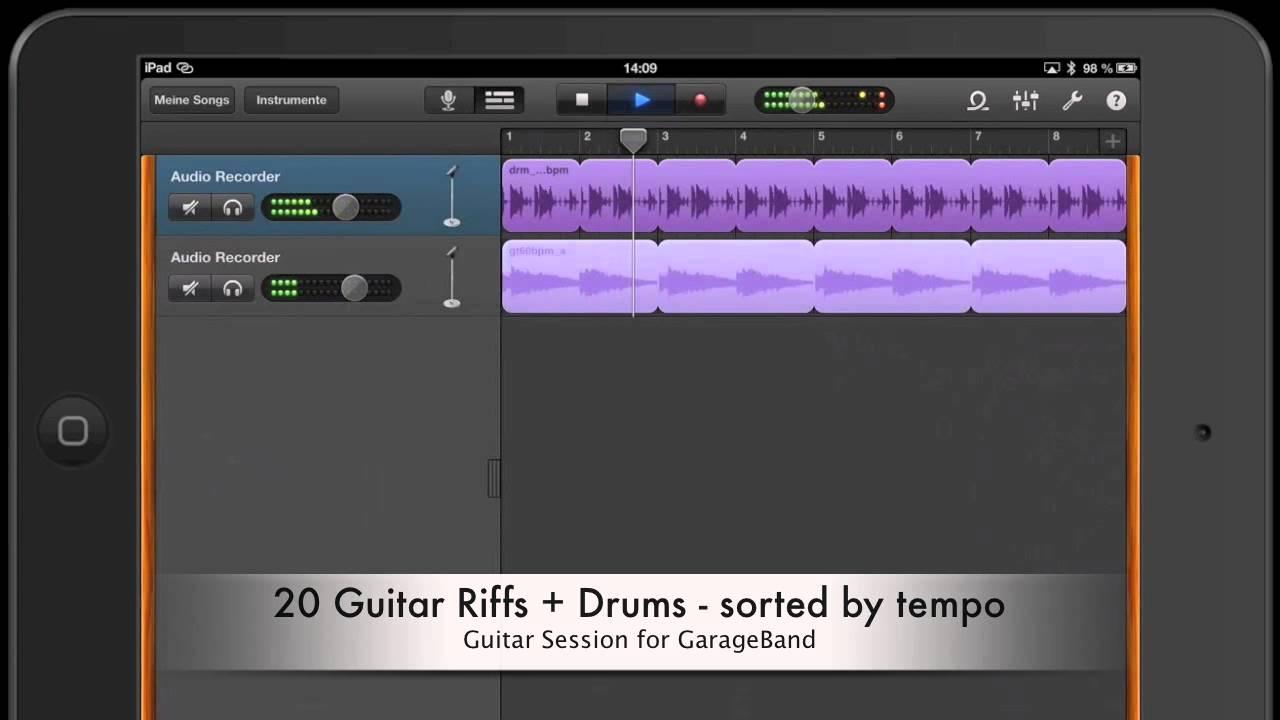 app sound garageband guitar session youtube. Black Bedroom Furniture Sets. Home Design Ideas