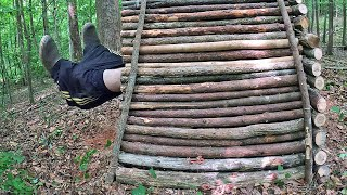 Bushcraft Outhouse & Survival Shelter - 5 Tips for How to Poop in the Woods (3 Day Campout)