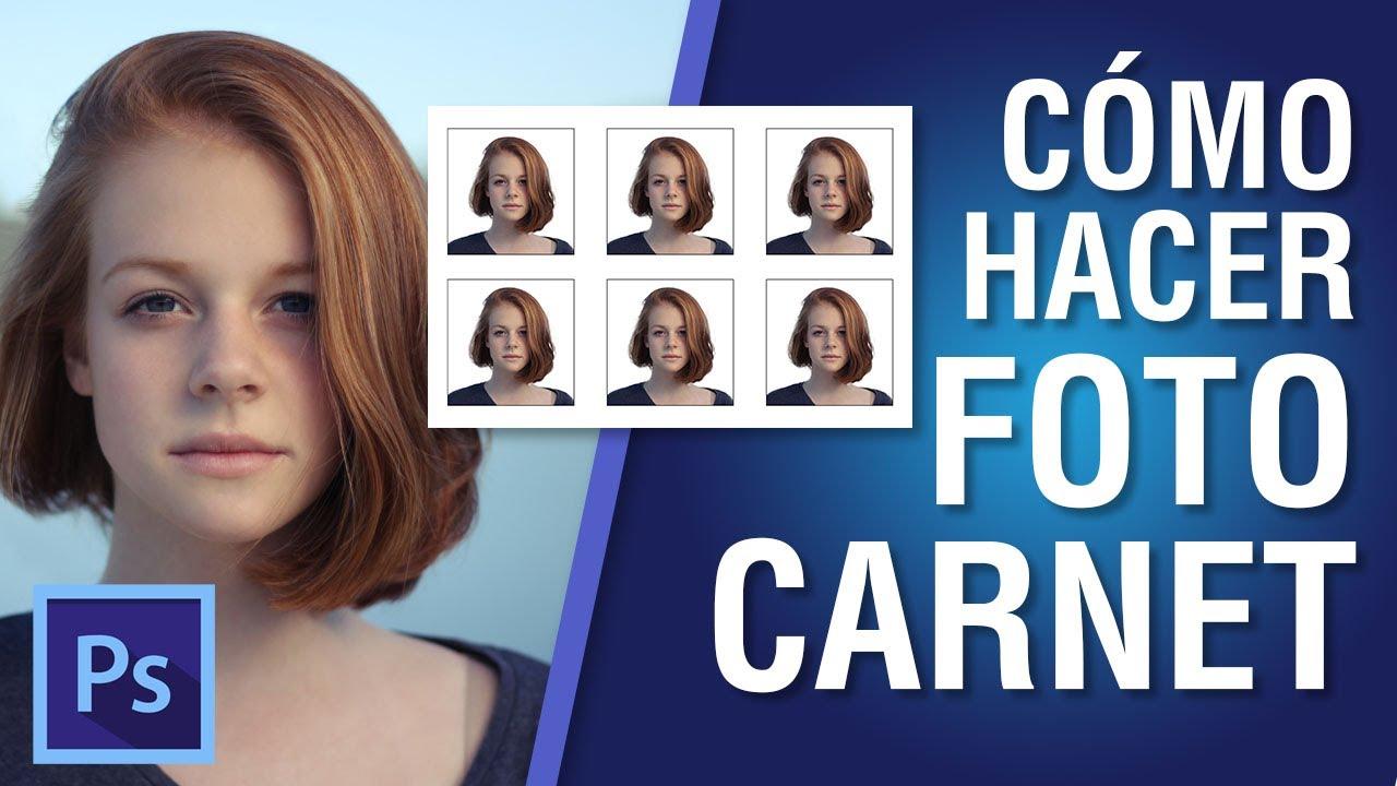 Cómo Hacer Foto Carnet En Photoshop Cc 2018 12 Youtube