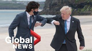 G7 summit: UK 's Boris Johnson welcomes world leaders in opening ceremony | FULL