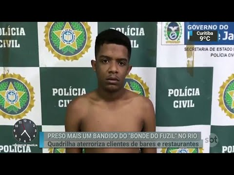 Polícia do Rio prende integrante do ´Bonde do Fuzil´ | SBT Brasil (11/07/18)